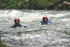 schwimmen ohne Boot aber mit viel Spaß