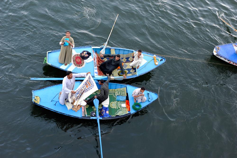 schwimmende Händler auf dem Nil