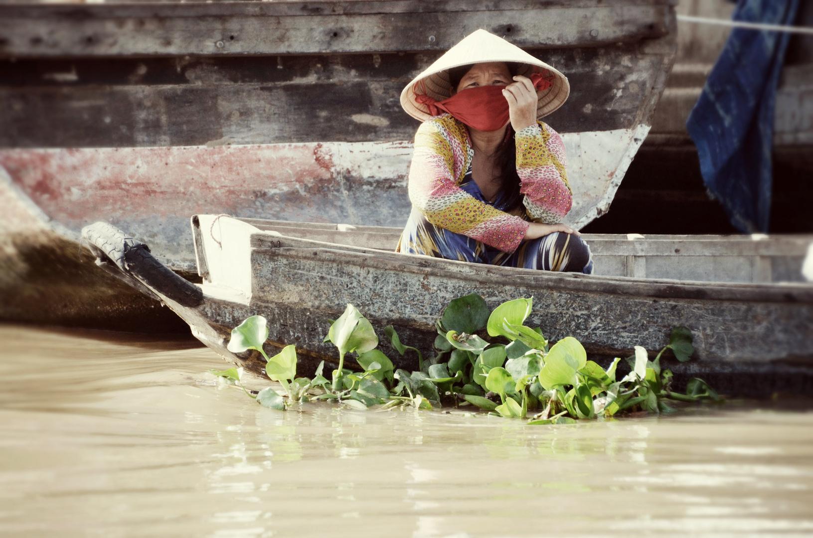Schwimmende Märkte von Can tho, Vietnam