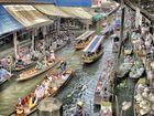 Schwimmender Markt Bangkok 1