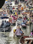 Schwimmender Markt Bangkok 2