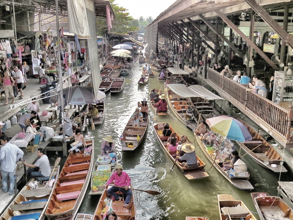 Schwimmender Markt Bangkok 4