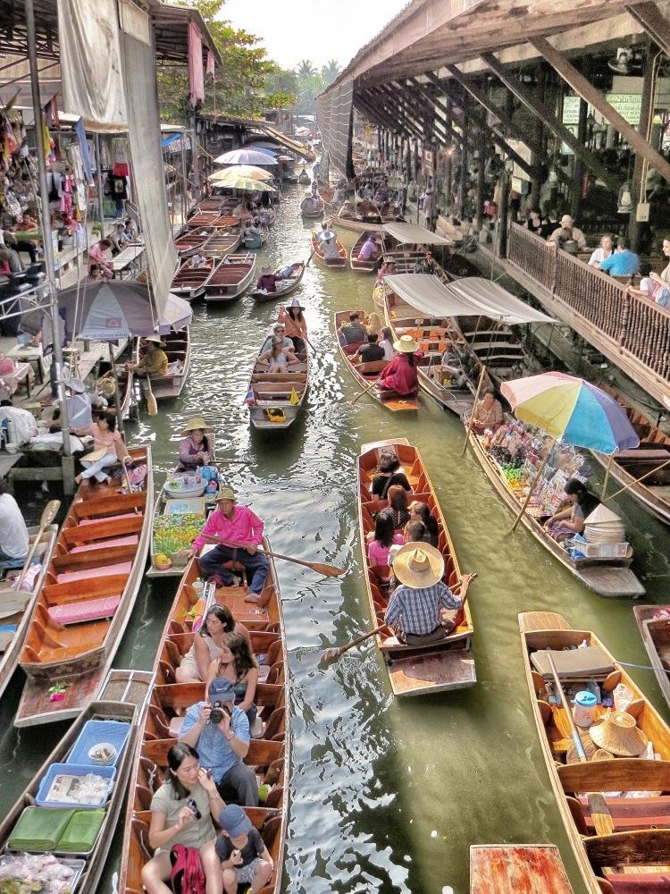 Schwimmender Markt Bangkok 5