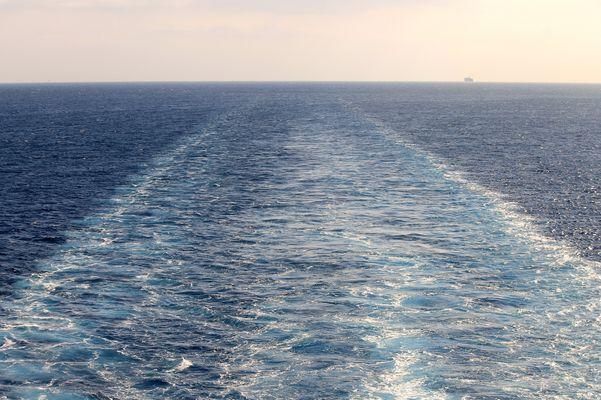 scia dal traghetto