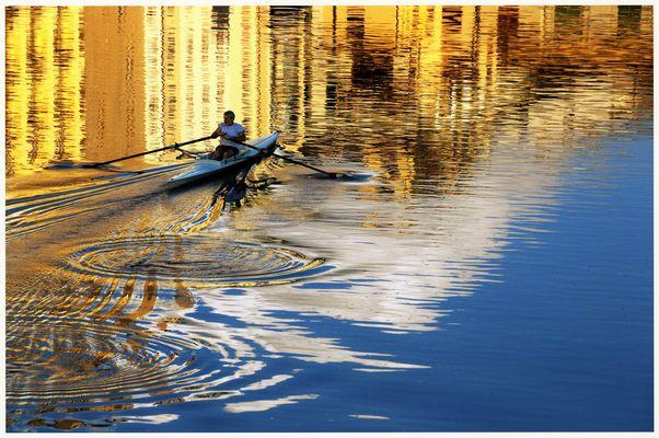 scivolando dolcemente.....sull' Arno