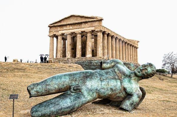 Scorcio della Valle dei Templi di Agrigento