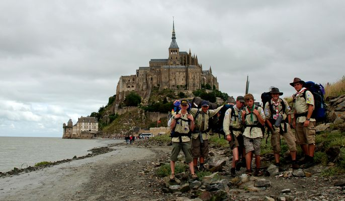 Scouts St. Peter Spellen bei Mount Saint Michelle