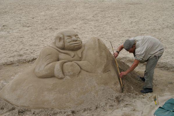Sculpteur sur sable