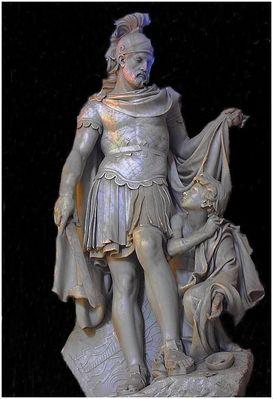 Sculpture dans la cathédrale/abbatiale d'Arras : St-Martin