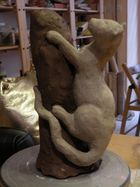 sculpture de léopard que j'ai faite en juin