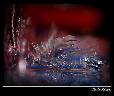 Sculpture naturelle de glace