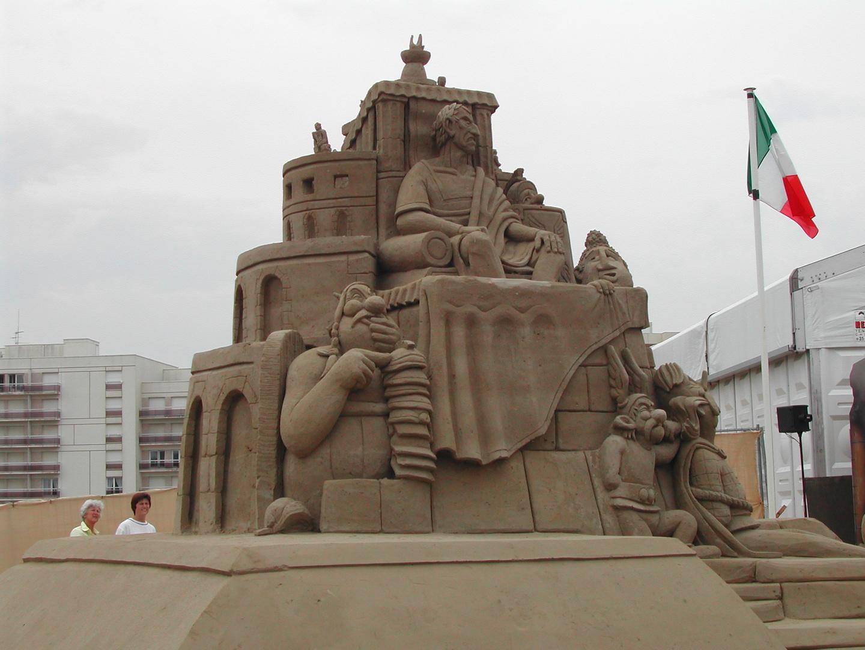 Sculpture sur sable - Hardelot (62)