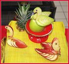 SCULPTURES SUR FRUITS