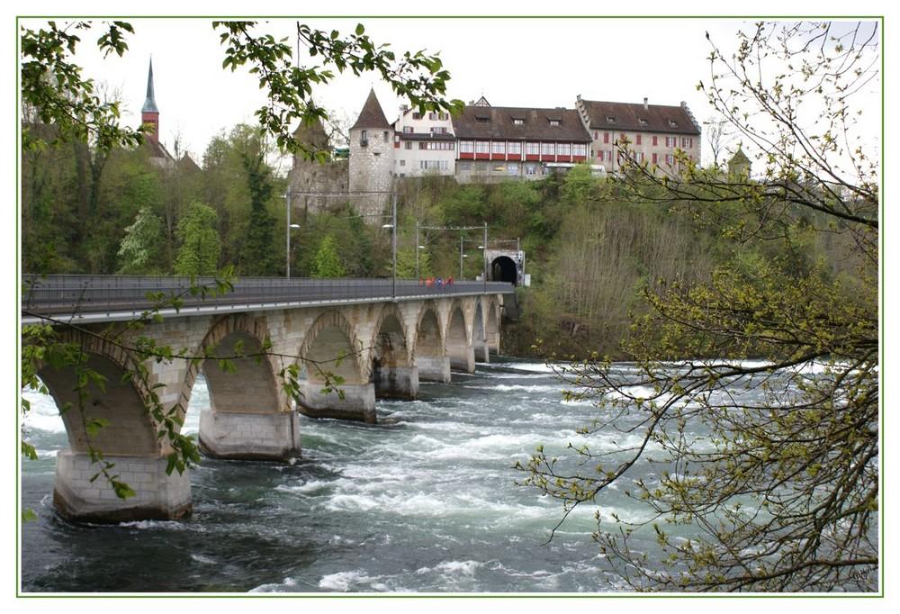 Se promener au dessus des chutes du Rhin