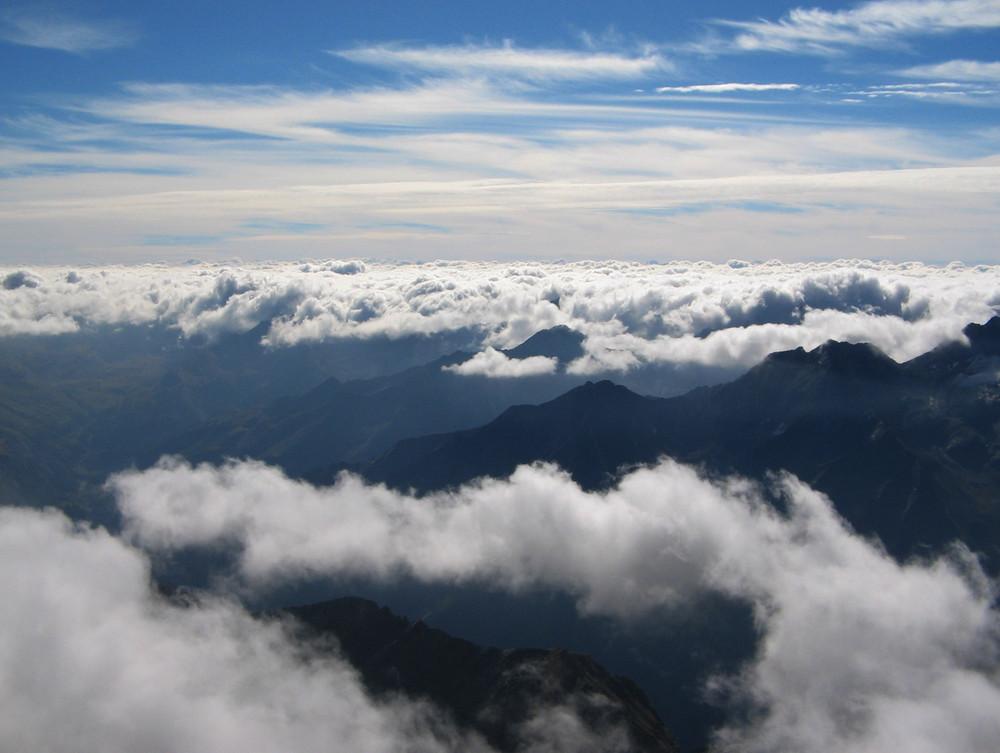 Se sotto è nuvolo............ basta salire!!!