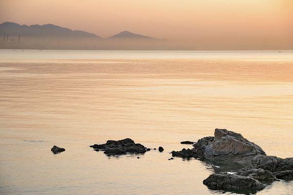 sea, Meer, Strand und Sonnenuntergang