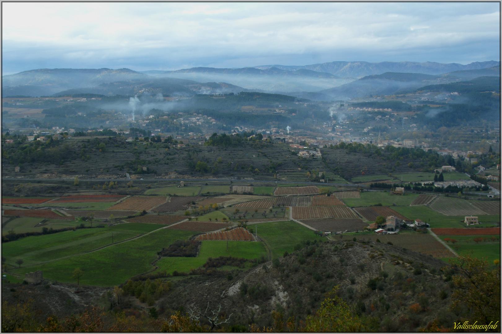 Séance d'écobuage en Ardèche