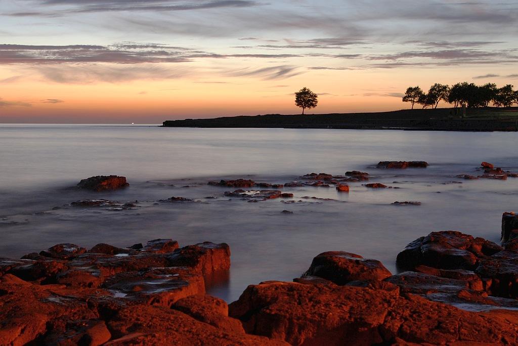Seascape after sunset