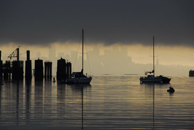 Seattle at Dawn by Filmore Rose