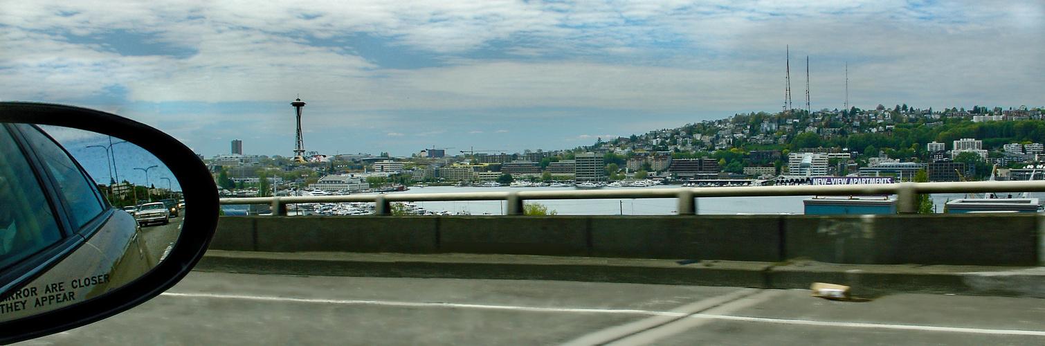 Seattle Jachthafen mit Space Needle