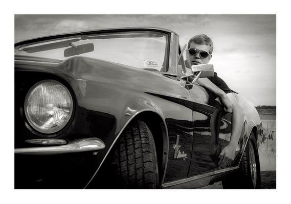 Seb im Mustang