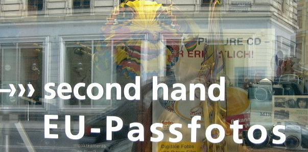 second hand EU - Passfotos: rechtzeitig für den Carneval