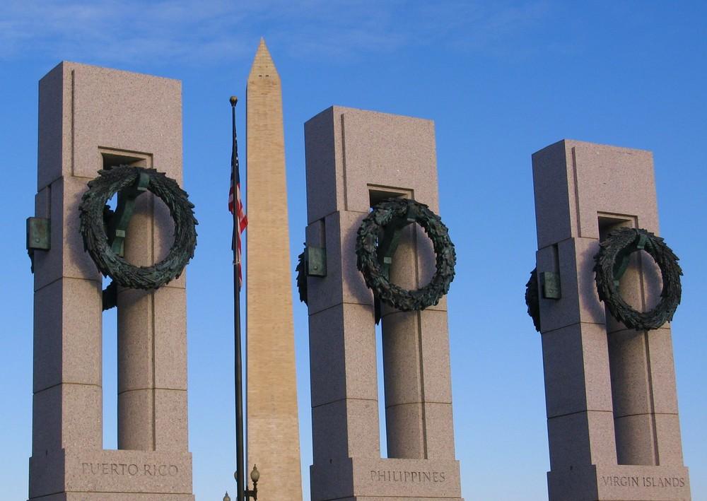 Second World War Memorial mit großem Pfosten
