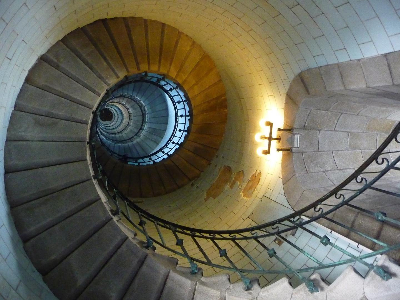 Section de nautilus ou phare avant la montée des 300 marches