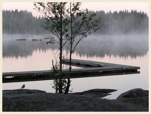 See in Schweden, morgens um 5:02 Uhr