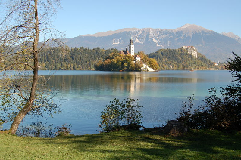 See mit Insel in Bled