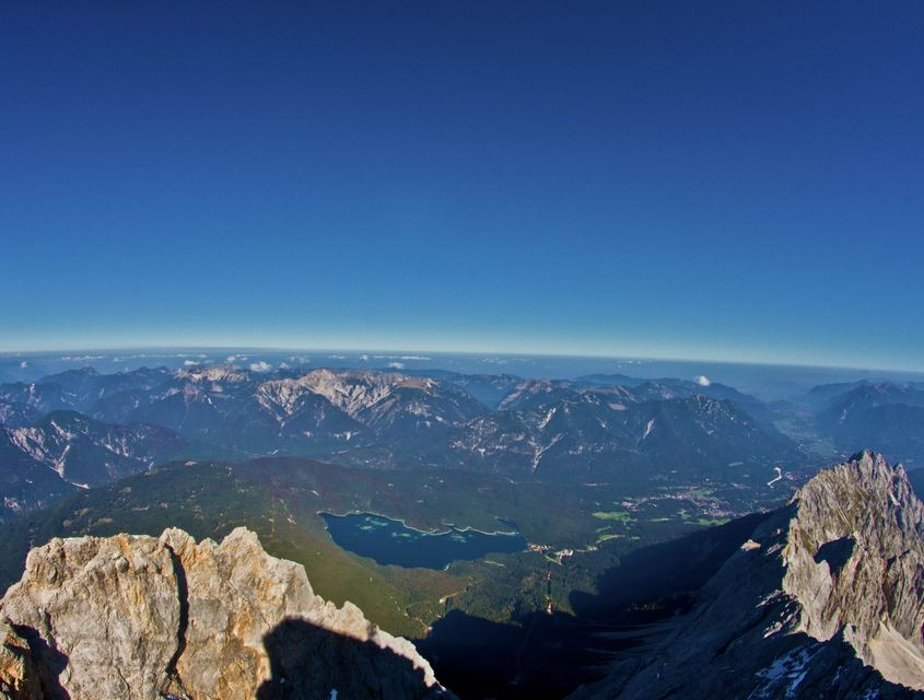 See von der Zugspitze aus gesehen