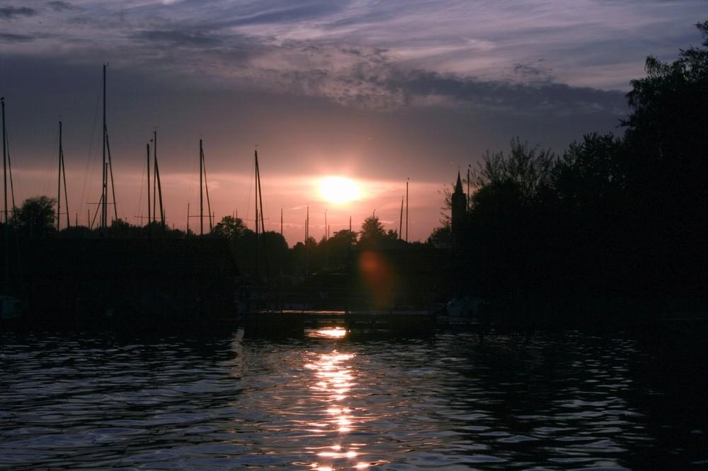 Seebruck bei Sonnenuntergang