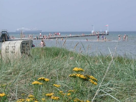 Seebrücke in Stein (Ostsee) ausgangs der Kieler Förde I