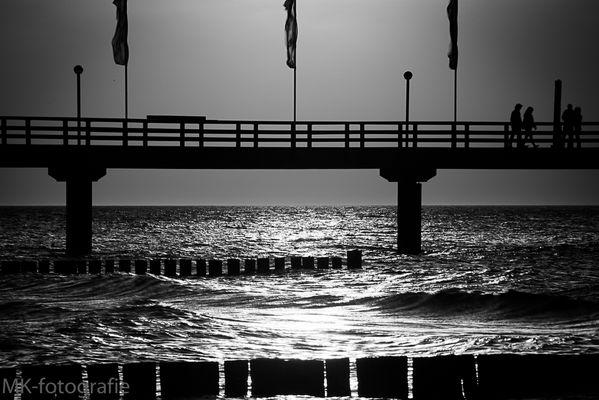 Seebrücke in Zingst auf dem Darß