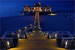 Seebrücke Sellin am Abend
