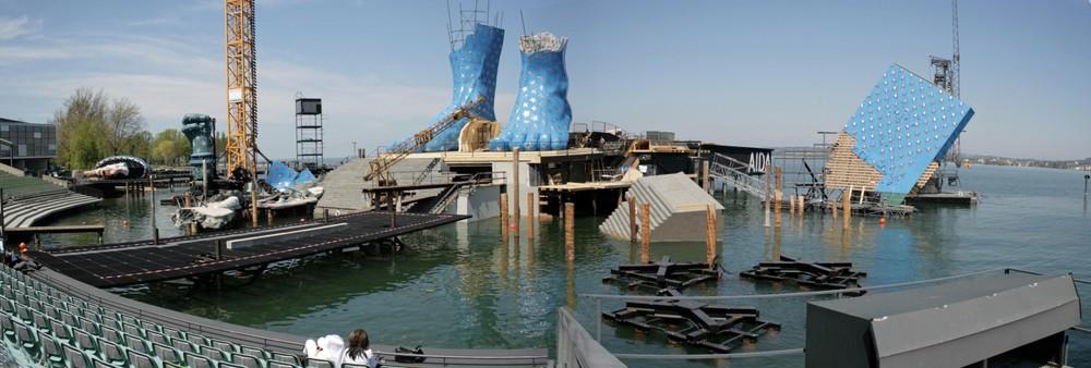 Seebühne Bregenz AIDA-Bühnenaufbau