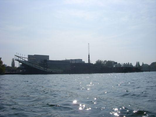 Seebühne Bregenz vom Bodensee aufgenommen