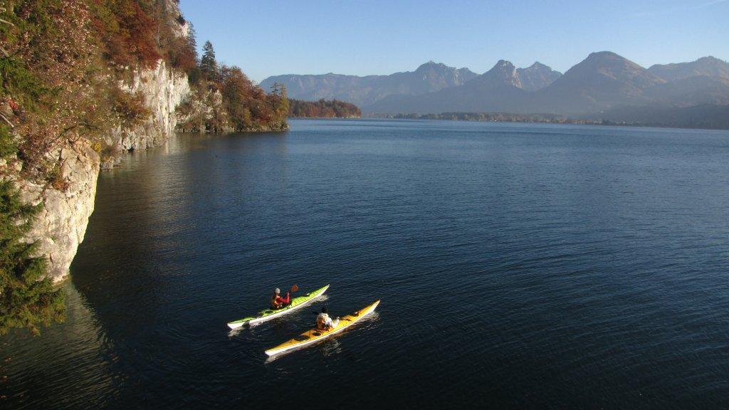 Seekajakfahrt am Wolfgangsee - Salzkammergut/Österreich
