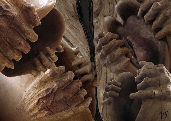 """"""" SEELENRISS"""" Skulptur von R. Lindner"""