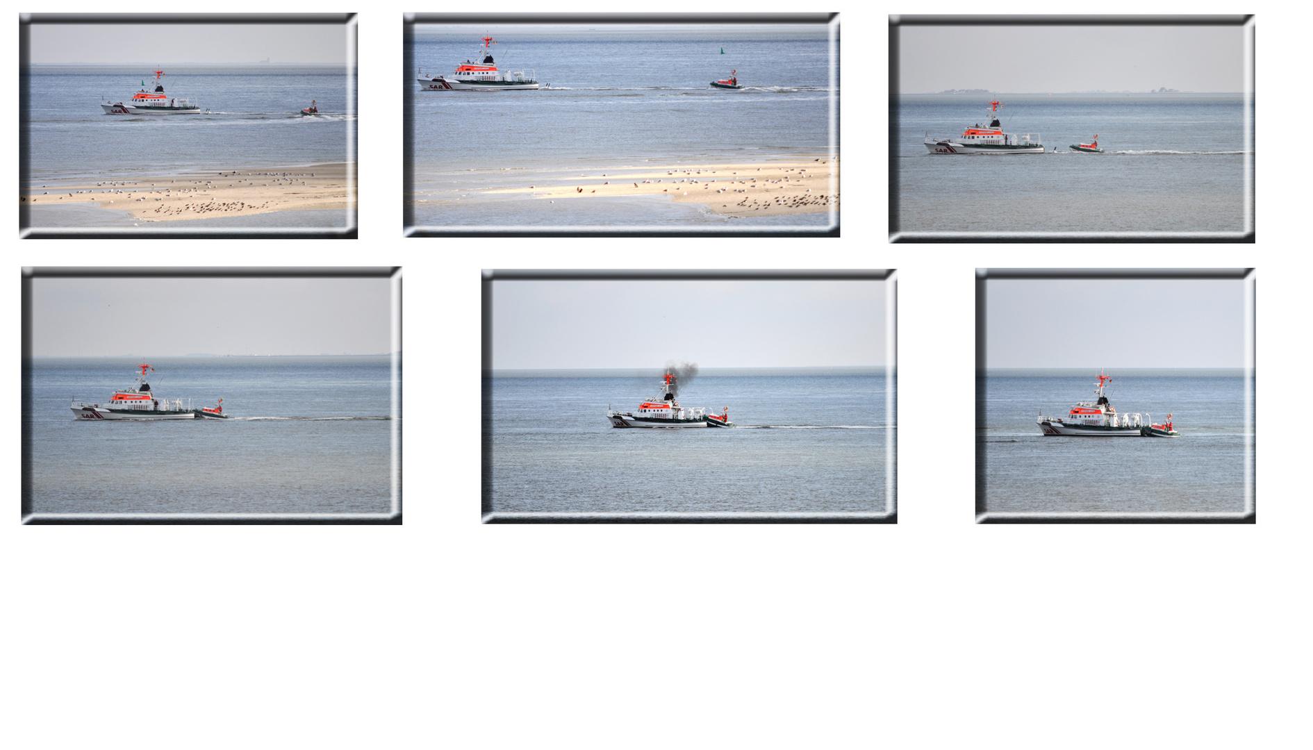 Seenotkreuzer an der Südspitze von Amrum