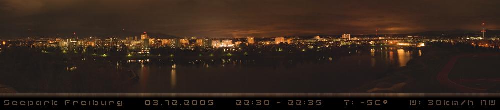 Seepark bei Nacht