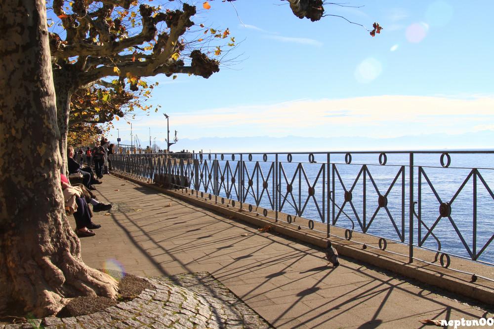 Seepromenade Meersburg im Herbst