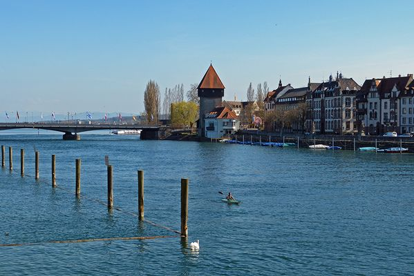 Seerhein in Konstanz, Konstanz im April