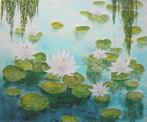 Seerosen (nach Monet)