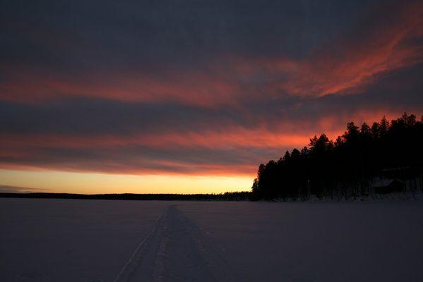 Seeueberquerung in Lappland