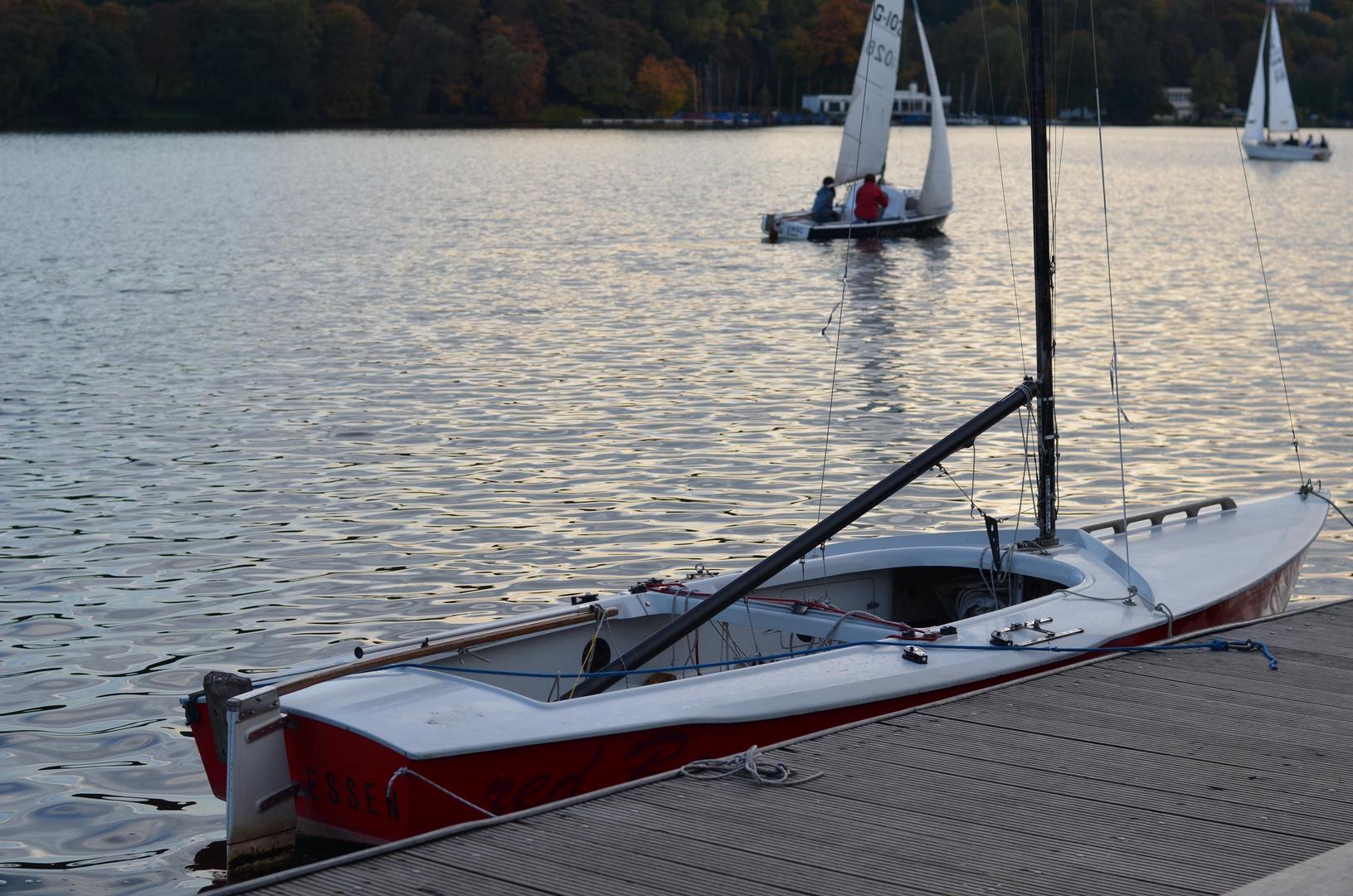 Segelboot am Baldeneysee