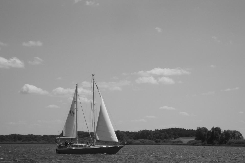 Segelboot am Müritzsee