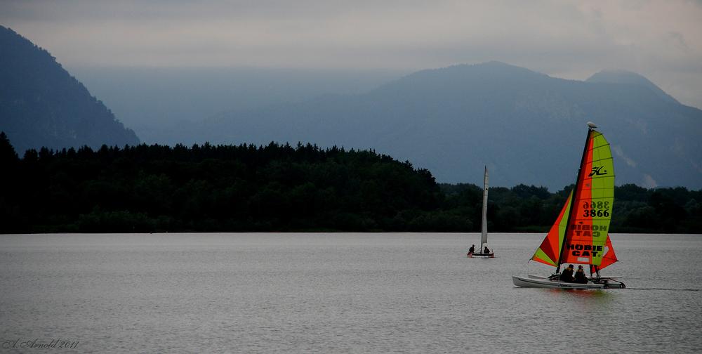 Segelboot auf dem Chiemsee...