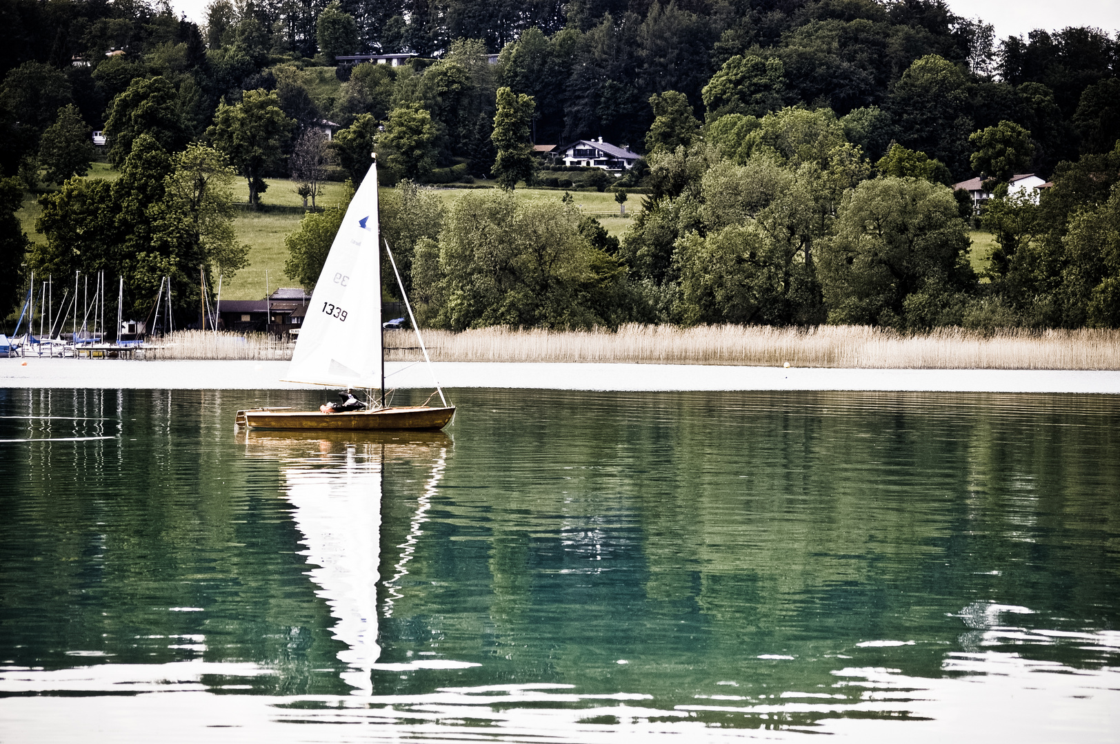 Segelboot Gmund Seeglas