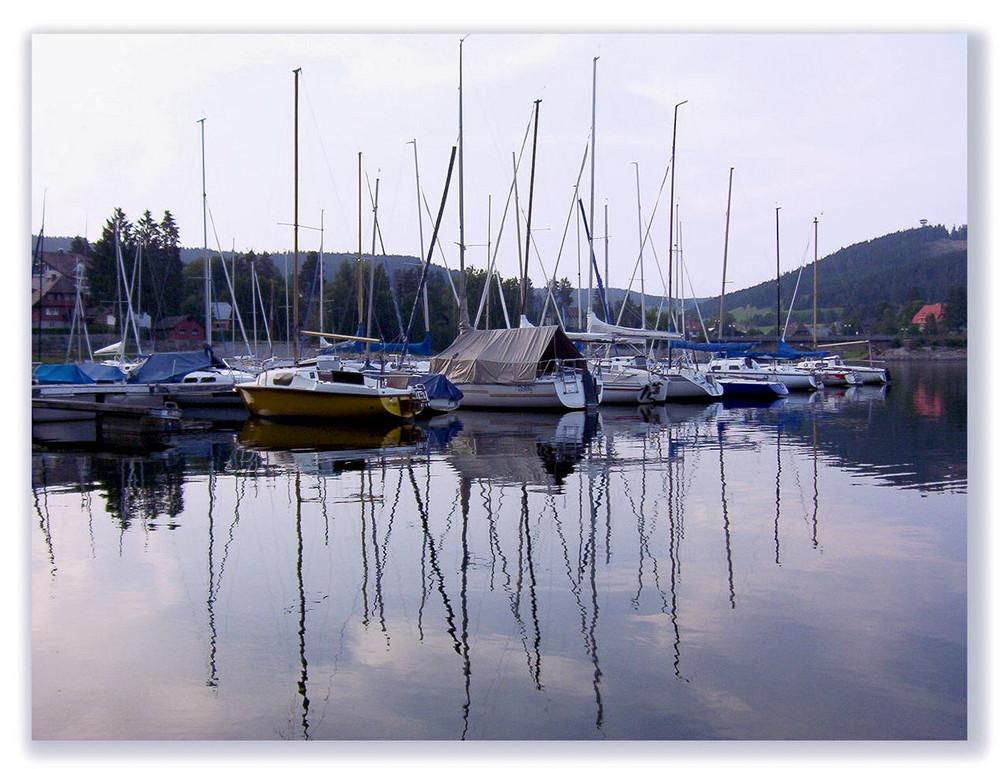 Segelboot-Idylle (in Farbe)